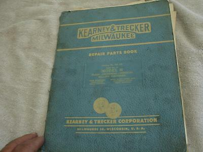 Kearney & Trecker H Mod  Milling Machine Parts  Manual