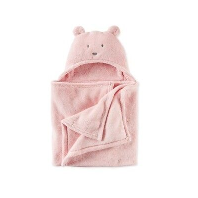 Brand NEW - Carter's Baby Boys' or Girls' Hooded Faux-Sherpa Animal Blanket