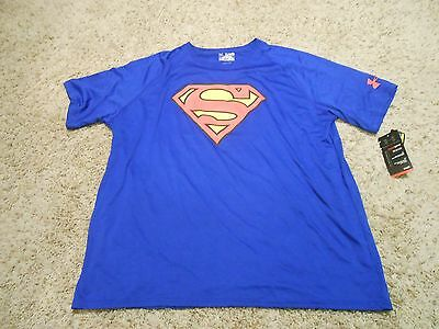 New Under Armour Shirt Size 2XL Mens Superman Loose TShirt Athletic Casual