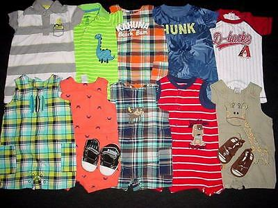Used Baby Boy One Piece 0-3 3-6 Months Spring Summer Sun Suit Clothes Lot