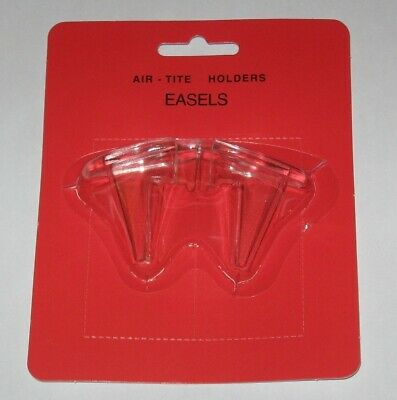 Pack of 2 Air Tite Clear Acrylic Plastic Coin Display Easels capsule stands