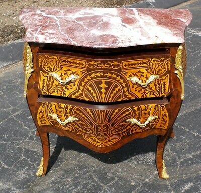 Lovely Commode with French Red marble Louis XV style