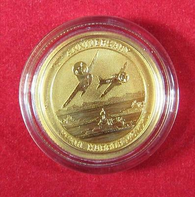 2016 P $15 Pearl Harbor Perth Mint 1/10 oz. .9999 Gold 75th Anniversary Coin