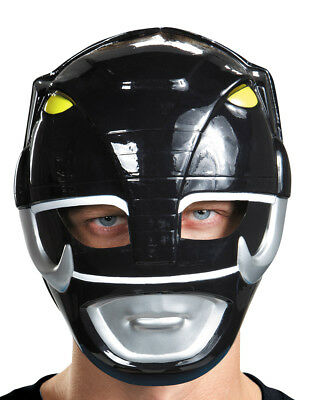 Adults Mighty Morphin Power Rangers Black Vacuform Mask Costume Accessory
