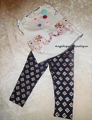 Monsoon Baby Girls Mila Elephant Multi Coloured Top & Legging Set Age 0-12 Mnths