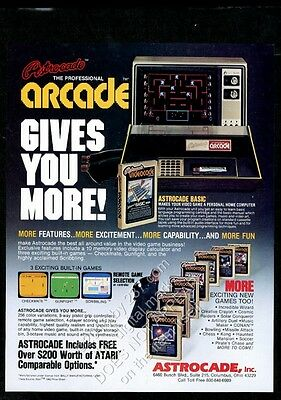 1982 Astrocade video game system photo vintage print ad