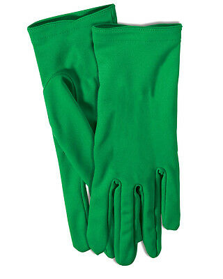 Adult's Womens Short Green Superhero Gloves Costume Accessory