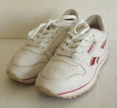 Reebok Womens Vintage Classic White Leather Sneakers size 5.5 M
