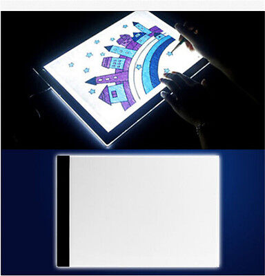 NEW 1Set A4 LED Artist Thin Art Stencil Board Light Tracing Drawing Box Board AU