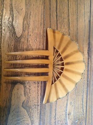 Vintage  Hair Comb Set With Diamanté Some Missing