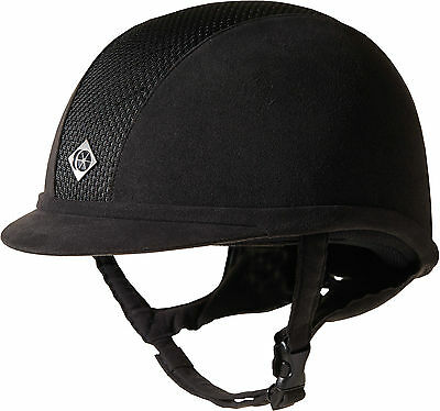 Charles Owen Ayr8 Riding Hat Helmet - Black - Low Profile Vented - ASTM F1163