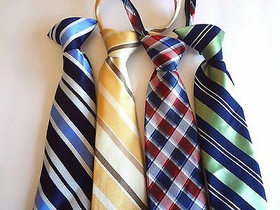 Boy's Pre-Tied -   Neck Ties (4) Ties For Ages 10 - 13 Years