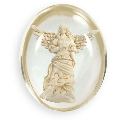 GUARDIAN ANGEL Worry Stone with Descriptive Gift Envelope - AMAZING DETAIL!!!