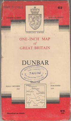 One-Inch Map of Great Britain. DUNBAR, Sheet 63, National Grid Seventh Series