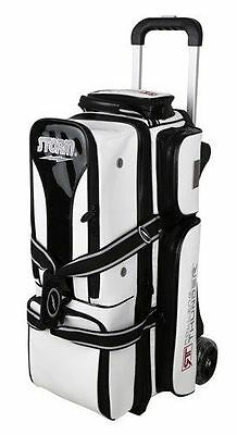Storm Rolling Thunder Signature Edition Black White 3 Ball Roller Bowling Bag