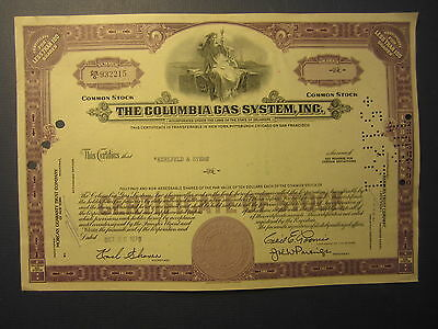 Old Vintage 1970 - COLUMBIA GAS SYSTEM INC. - Stock Certificate