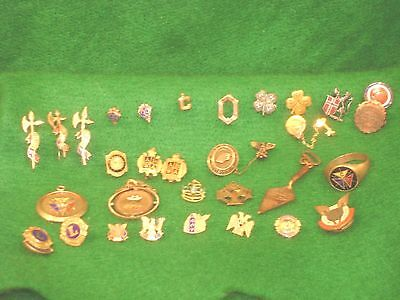 Vintage Fraternal 4H Masonic - Military Pins 1 ring -2 fobs