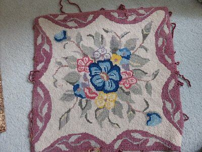 vintage antique pillow cover piece embroidered woven floral material fabric