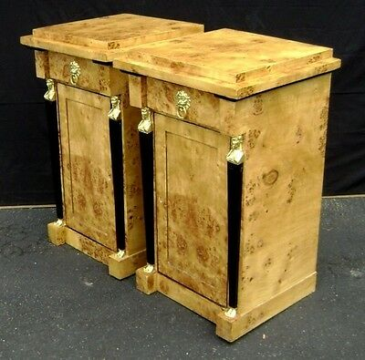 Pair of Biedermeier style commodes cabinet olivewood