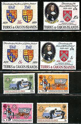 Lot 59225 Mint H 209 - 216  Turks And Caicos Islands