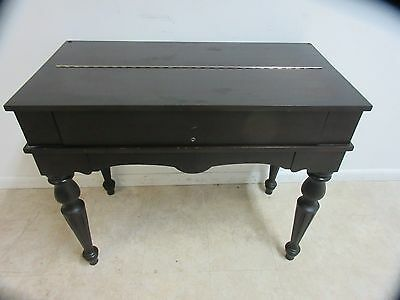 Antique Empire Mahogany Flip Top Spinet Ladies Writing Desk A