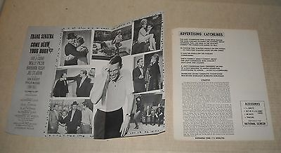 1963 FRANK SINATRA in COME BLOW YOUR HORN ADVERTISING FLYER JILL ST JOHN