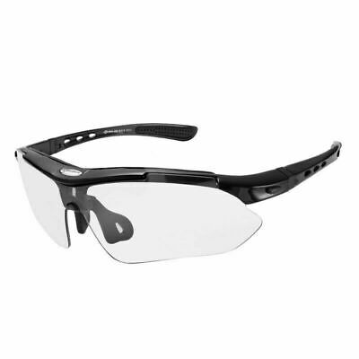 RockBros Polarized Full Frame Cycling Fish Sunglasses Glasses Goggles Black