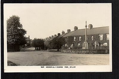 Wylam - War Memorial, Ingham Row - real photographic postcard