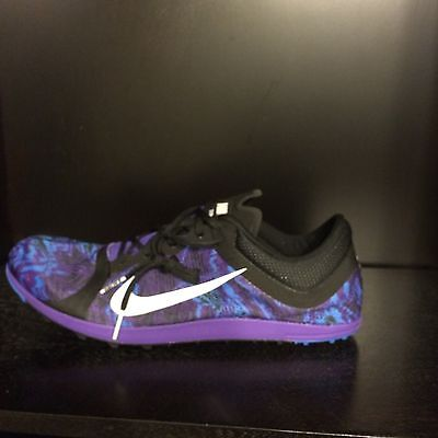 fd1333fb9aba NIKE ZOOM XC TRACK SPIKES HYPER GRAPE WHITE BLACK Men 11 Wmn 12.5 ...