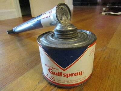 Vintage Gulf Spray Continuous Space Sprayer Kills Bugs Model 28 20 oz 50s  Oil