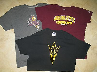 Women's Lot of 3 ASU t-shirts,  S,M,L, all in excellent shape, gray one is Nike