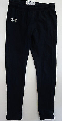 Under Armour Youth Boy Girl  L Black Tights Pants Athletic b23
