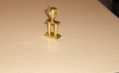 """Model Horse Accessory: Gold trophy """"Belle""""  2 1/2' high"""