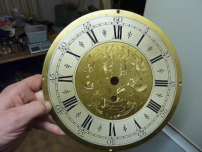 "VERY NICE SYNCHRONOME of LONDON 10"" BRASS CLOCK DIAL"