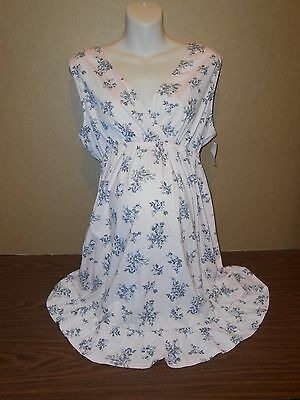New Oh Baby Maternity Gown Size XL Pink Floral Sleepwear Breastfeeding