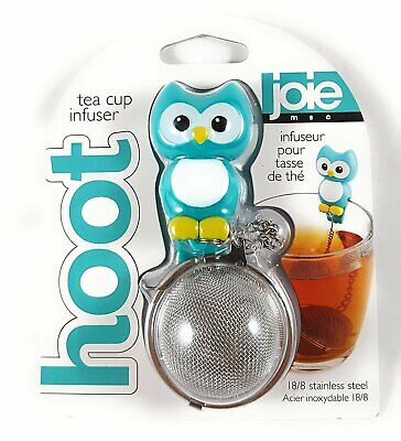 Hoot Owl Stainless Steel Mesh Tea Ball Cup Infuser - Loose Leaf Strainer Joie