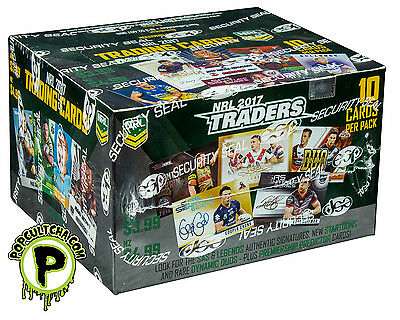 NRL 2017 RUGBY LEAGUE - Traders Trading Cards ~ Sealed Box (36ct) #NEW