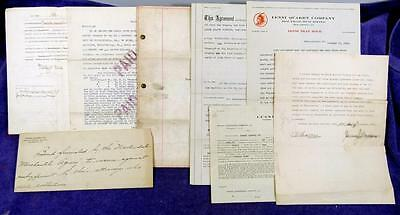 1912 to 1917 PENNSYLVANIA Mining Lenni Quarry Company Document Archive