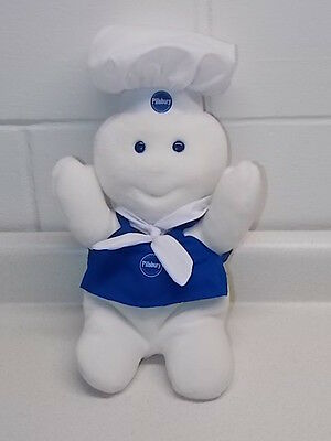 Nice Clean 2006 Promotional Pillsbury Doughboy Giggling Stuffed Plush Toy Doll