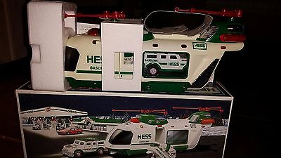 2001 Hess Helicopter with Motorcyle and Cruiser In Box