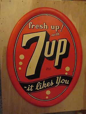 "Rare! 7 up  Fresh Up with 7 up It likes you sign 40"" x 30"""