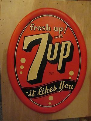 """Rare! 7 up  Fresh Up with 7up It likes you sign 40"""" x 30"""""""