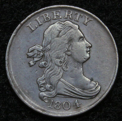 1804 Draped Bust Half Cent - Nice Coin, Free Shipping  (4964)
