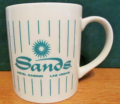 "Sands   Hotel/casino   Las Vegas,   Vintage Coffee Cup   3 1/2"" Tall,  8 Oz"