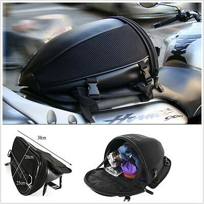 Motorcycle Bike Sports Waterproof Back Seat Carry Bag Luggage Tail Bag Saddlebag