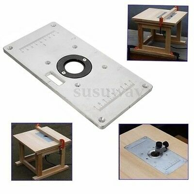 1x Table Insert Plate Aluminum Router 4x 235x120x8mm Insert Ring Woodwork Craft