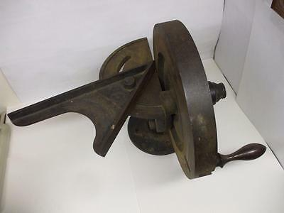 Antique Hand Crank Machinery Printing Press Shaper Grinder Chandler & Price