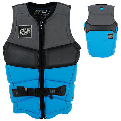 Jet Pilot Chris O'Shea Mens C4 Waterski Wakeboard Life Jacket Vest BLUE S LAST O