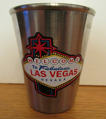 Welcome To Las Vegas Nevada,    Stainless Steel   Short Shot Glass