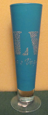 Las Vegas   Tall Fluted Glittered Shot Glass